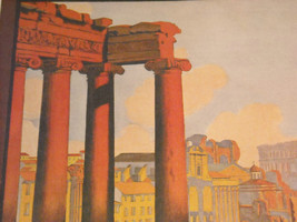 Vintage Reprint Color 1920 Travel Ad Rome, Italy Mont-Cenis Ruins Paris Poster image 4