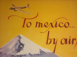 Reproduction Print of Vintage Travel Mexico By Air Pan American Airways System image 7