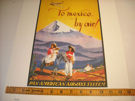 Reproduction Print of Vintage Travel Mexico By Air Pan American Airways System image 3