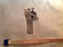 Rhinestone Man and Woman Dancing Pin Womans Skirt Swooshes from Side to Side image 6