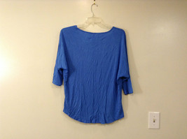 Royal Blue Faded Glory Deep Scoop Neck Top Size Large 12 to 14 image 3