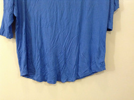 Royal Blue Faded Glory Deep Scoop Neck Top Size Large 12 to 14 image 2