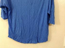 Royal Blue Faded Glory Deep Scoop Neck Top Size Large 12 to 14 image 6