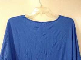 Royal Blue Faded Glory Deep Scoop Neck Top Size Large 12 to 14 image 4