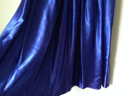 Royal Blue Vintage Ball Gown Dress Laced on Top Bow Zipper on Back image 8