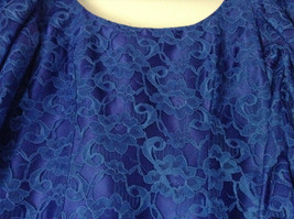 Royal Blue Vintage Ball Gown Dress Laced on Top Bow Zipper on Back image 6
