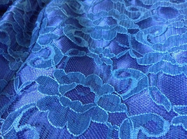 Royal Blue Vintage Ball Gown Dress Laced on Top Bow Zipper on Back image 12