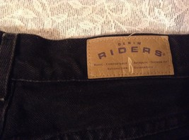 Riders Black Cuffed Bottom Jean Shorts 100 Percent Cotton Size 18M image 6