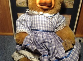 Robert Raikes Large Teddy Bear with Wooden Face Becky Thatcher Limited Edition image 3