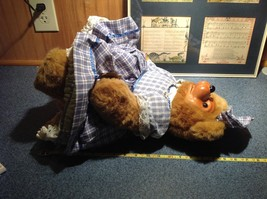 Robert Raikes Large Teddy Bear with Wooden Face Becky Thatcher Limited Edition image 5