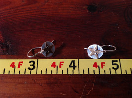 Riveted Cute Baby Disk Earrings w Star Gold on Silver Handmade Zina Kao image 8