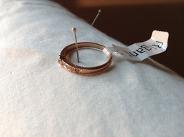 Rose Gold Tone CZ Round Delicate Ring by Rigant Size 7.75 image 3