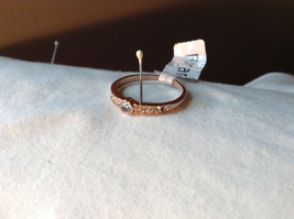 Rose Gold Tone CZ Round Delicate Ring by Rigant Size 7.75 image 2