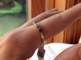 Rose Gold Tone CZ Round Delicate Ring by Rigant Size 7.75 image 5