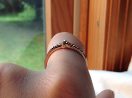 Rose Gold Tone CZ Round Delicate Ring by Rigant Size 7.75 image 6