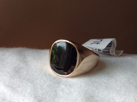 Round Jade Stone Silver Ring Size 7 image 7