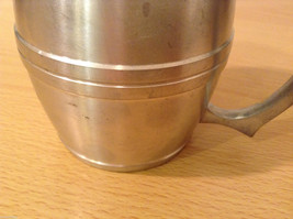 Royal Selanger Pewter Metal Silver Beer Mug with handle image 5