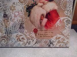 Russian Handmade 14x11 Mixed Media Christmas Collage Canvas, Christmas Greetings image 5