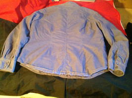 SO Blue (Sigrid Olsen) Womens Light Blue Corduroy Snap Front Blouse Size Large image 9