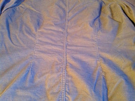 SO Blue (Sigrid Olsen) Womens Light Blue Corduroy Snap Front Blouse Size Large image 10
