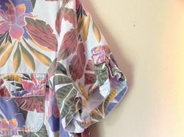 Sag Harbor Hawaiian Motif Button Up Collared Shirt w Adjustable Sleeves No Tag image 6