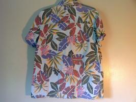 Sag Harbor Hawaiian Motif Button Up Collared Shirt w Adjustable Sleeves No Tag image 7