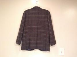 Sag Harbor Dark Gray Plaid Fully Lined Blazer Suit Jacket Size 10 Petite image 4