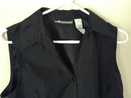 Sag Harbor Formal Dress Black Vest 100 Percent Polyester No Size Tag image 3