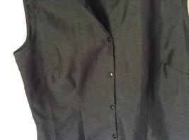 Sag Harbor Formal Dress Black Vest 100 Percent Polyester No Size Tag image 4