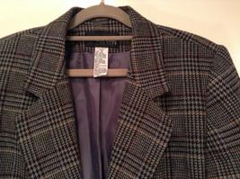 Sag Harbor Dark Gray Plaid Fully Lined Blazer Suit Jacket Size 10 Petite image 2
