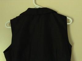 Sag Harbor Formal Dress Black Vest 100 Percent Polyester No Size Tag image 5