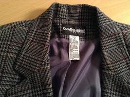 Sag Harbor Dark Gray Plaid Fully Lined Blazer Suit Jacket Size 10 Petite image 5