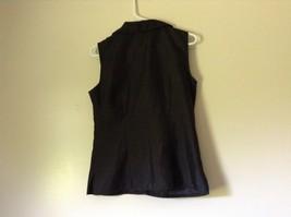 Sag Harbor Formal Dress Black Vest 100 Percent Polyester No Size Tag image 6