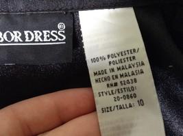 Sag Harbor Formal Dress Black Vest 100 Percent Polyester No Size Tag image 7