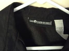 Sag Harbor Formal Dress Black Vest 100 Percent Polyester No Size Tag image 2