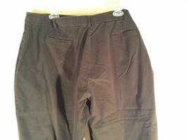 Sag Harbor Stretch Size 18 Black Capri Pants Front and Back Pockets Zip Closure image 5