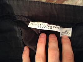 Sag Harbor Stretch Size 18 Black Capri Pants Front and Back Pockets Zip Closure image 7