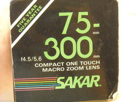 Sakar 75 - 300mm Macro Zoom Lens for Canon image 3