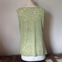 Sage Green Burn Out Design Sleeveless Top with Cowl Neck No Size Tag image 4