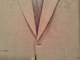 Saks Fifth Avenue Andrew Fezzo 100 Percent Wool Brown Plaid Suit Jacket Blazer image 3