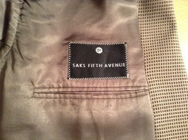 Saks Fifth Avenue Andrew Fezzo 100 Percent Wool Brown Plaid Suit Jacket Blazer image 8