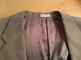 Saks Fifth Avenue Andrew Fezzo 100 Percent Wool Brown Plaid Suit Jacket Blazer image 7