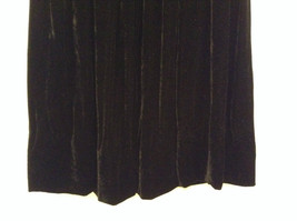 Saks Fifth Avenue Size 6 Black Velvet Dress Skirt Side Pockets Very Nice image 3