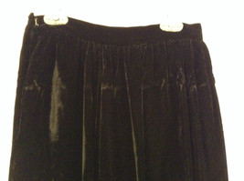 Saks Fifth Avenue Size 6 Black Velvet Dress Skirt Side Pockets Very Nice image 5