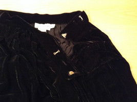 Saks Fifth Avenue Size 6 Black Velvet Dress Skirt Side Pockets Very Nice image 8