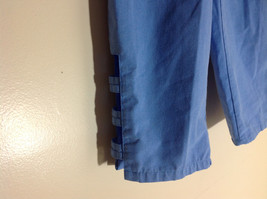 Salem Straits Blue Long Pants Elastic Waist Cutout with Buttons Size Small image 2