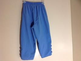 Salem Straits Blue Long Pants Elastic Waist Cutout with Buttons Size Small image 5