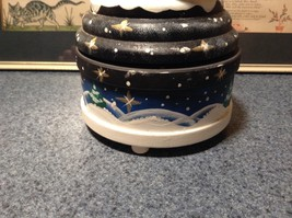 Santa Music Box Turn Top to Wind Up with Snowman Christmas Tree Russian image 4