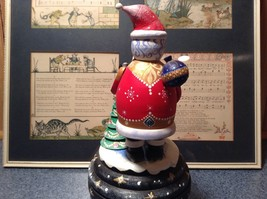 Santa Music Box Turn Top to Wind Up with Snowman Christmas Tree Russian image 6
