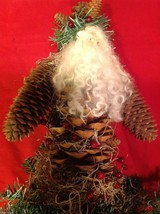 Santa figurine made of giant  pine cone and others image 3